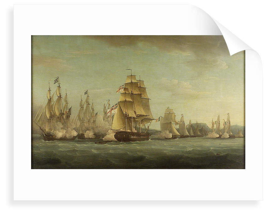 HMS 'Spartan' and French frigates: beginning of the action, 3 May 1810 by Thomas Whitcombe