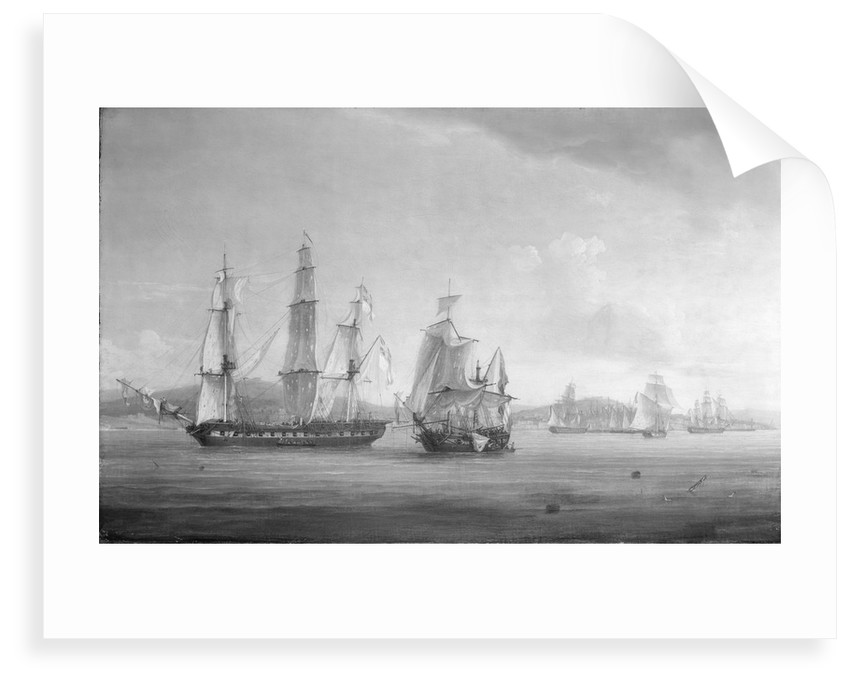 The 'Spartan's' engagement with a Neapolitan squadron, 3 May 1810: end of the action by Thomas Whitcombe