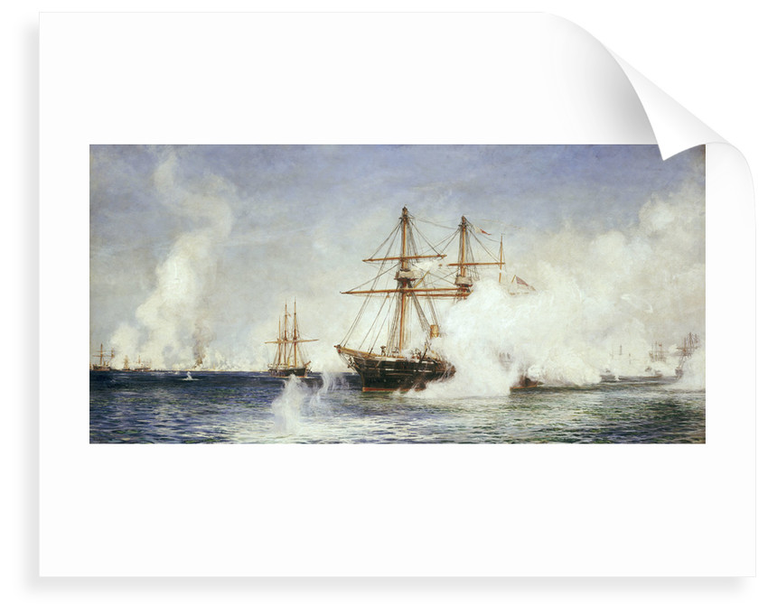 HMS 'Condor' at the bombardment of Alexandria, 11 July 1882 by William Lionel Wyllie