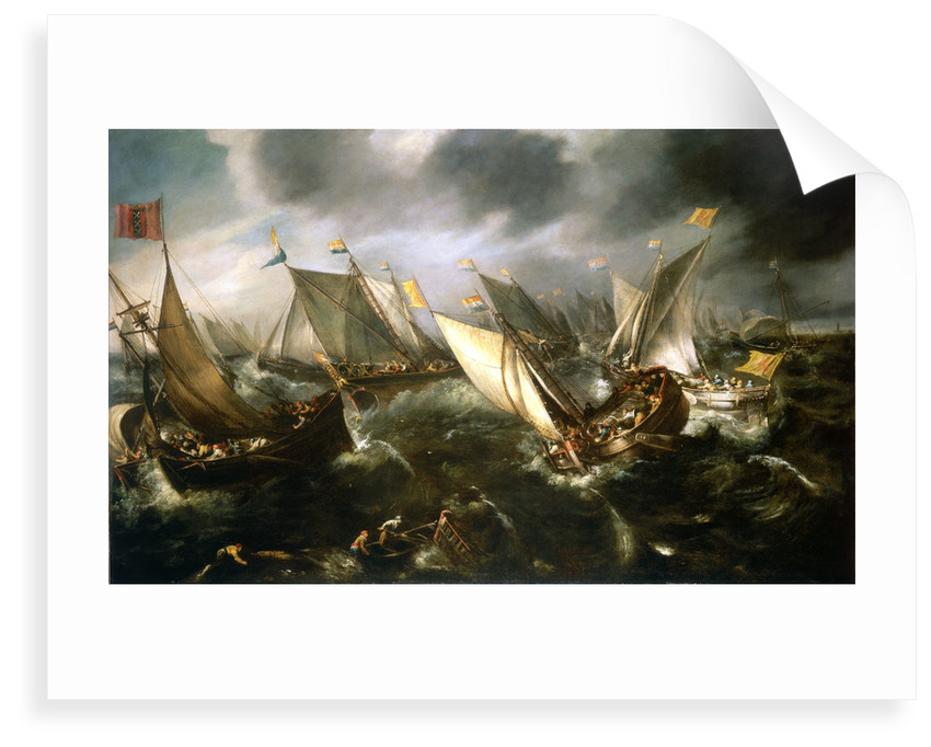 Dutch yachts racing by Andries van Eertvelt