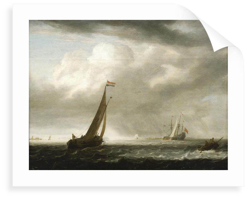 A squally day in a Dutch estuary by Simon de Vlieger