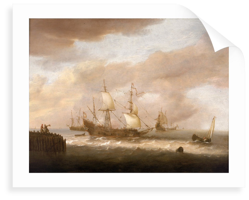 Ships wrecked on a rocky coast by Hendrick Staets