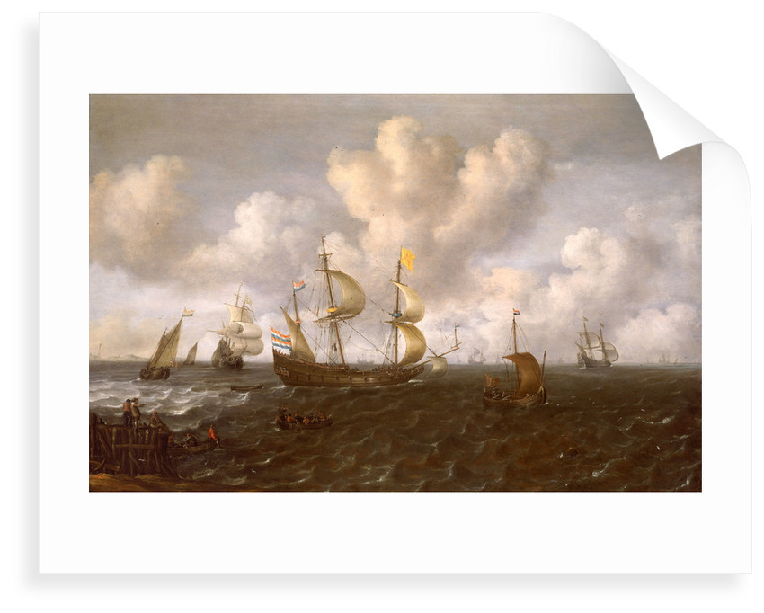 A Dutch ship before the wind by Joachim de Vries