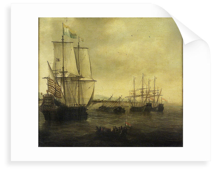 The Dutch ship 'Eendracht' by Jacob Adriaensz Bellevois