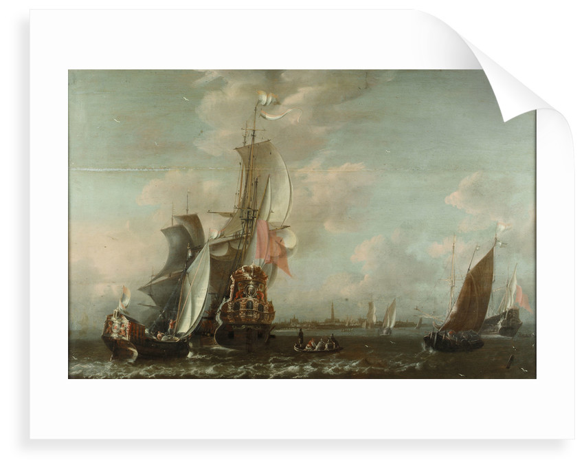 A Middelburg ship Lying off Antwerp by Jean-Baptiste Bonnecroy