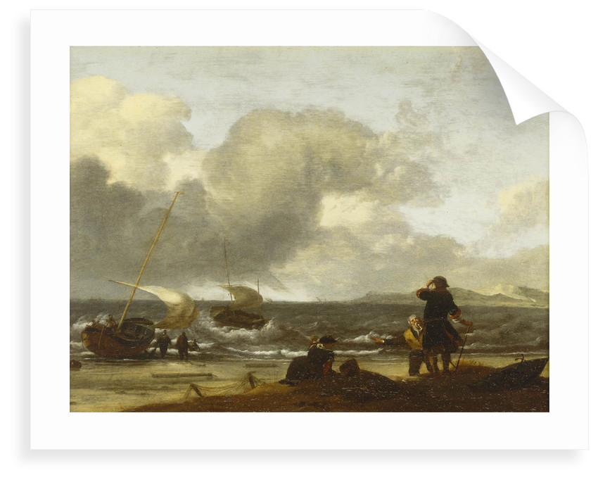 A windy day on the Dutch coast by unknown