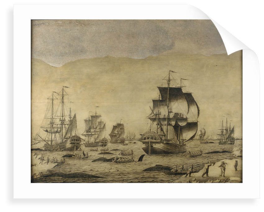 Dutch whalers in the ice by Roelof van Salm