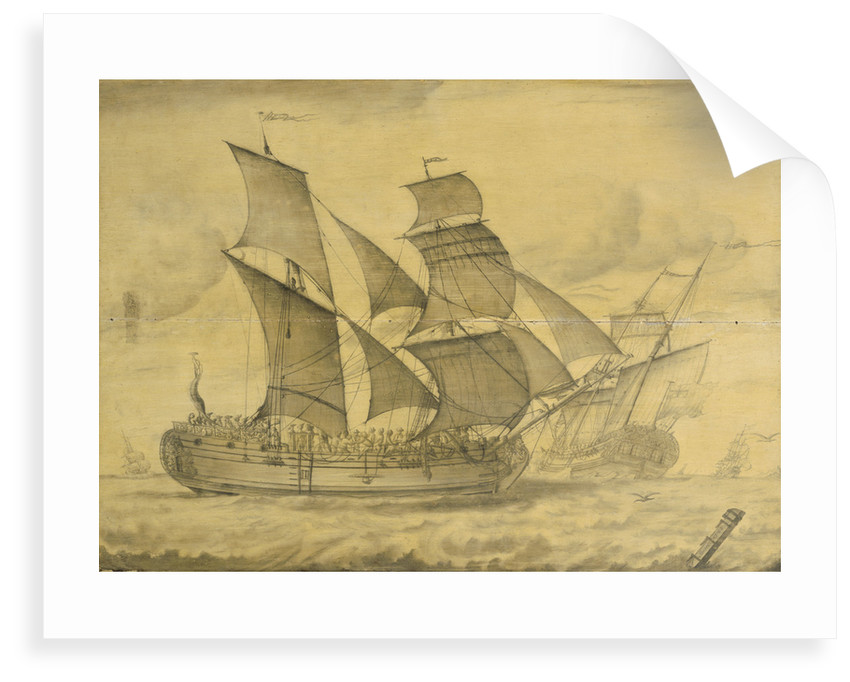 Two views of an English brigantine by T. or F 0 Boons