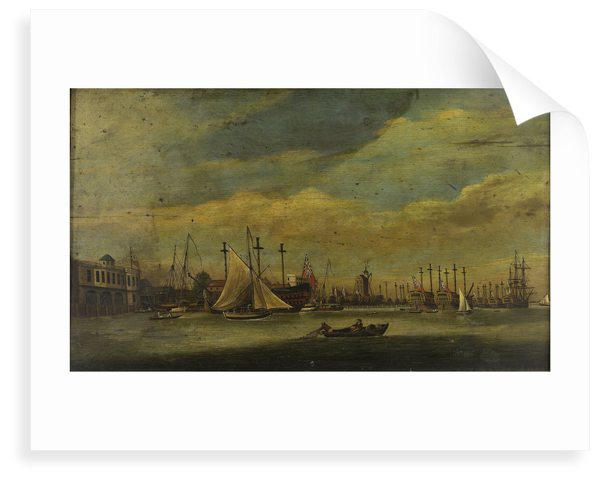 Ships laid up near Blackwall by unknown