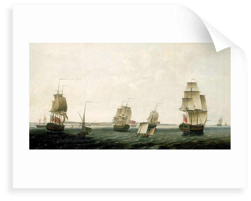 Ships off Dover by Francis Holman