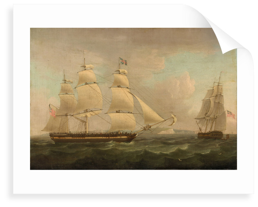 A merchantman off Dover by Thomas Whitcombe