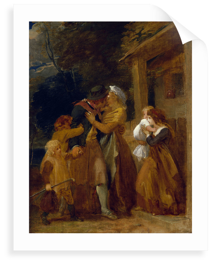 A sailor returns in peace by Thomas Stothard