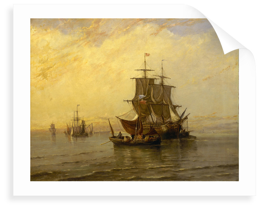 A Collier in the Thames by John Francis Salmon