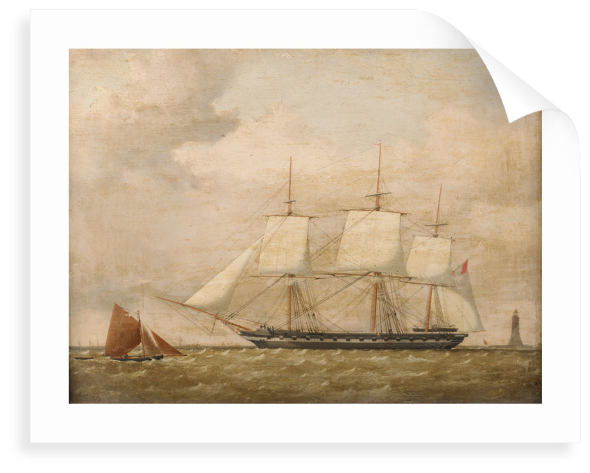 A frigate by Henry A. Luscombe