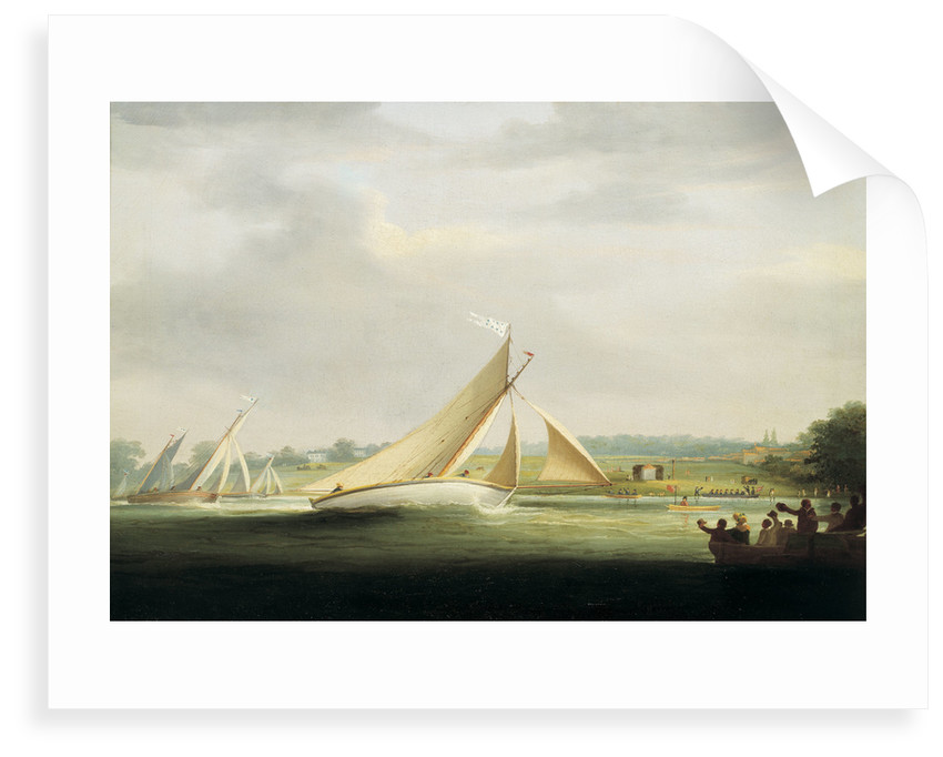 Yachts of the Cumberland Society racing on the Thames, circa 1815 by William Havell