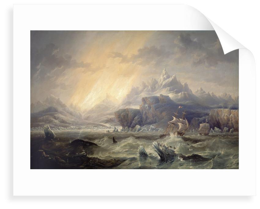 HMS 'Erebus' and 'Terror' in the Antarctic by John Wilson Carmichael