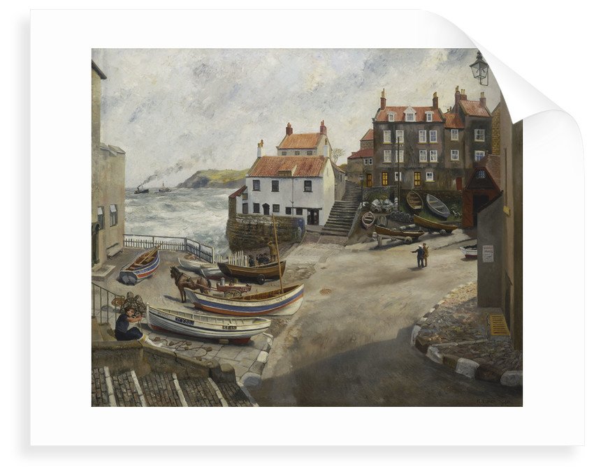 Robin Hood's Bay in wartime by Richard Ernst Eurich