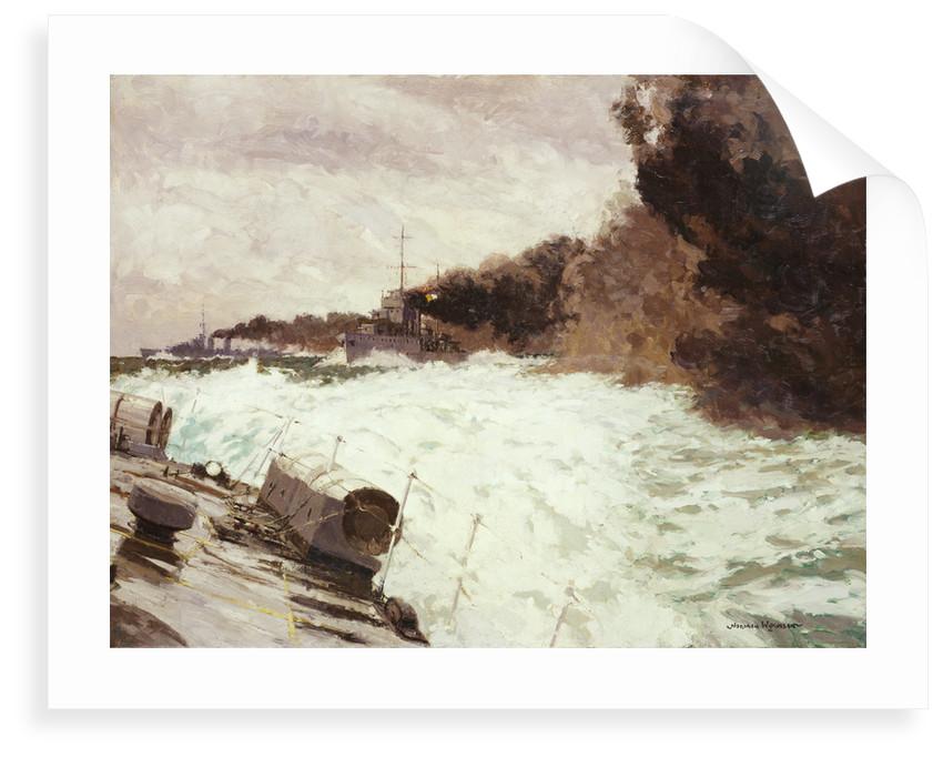 Destroyer smoke screen by Norman Wilkinson