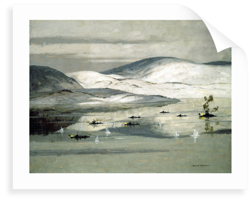 The second battle of Narvik, 13 April 1940 by Norman Wilkinson