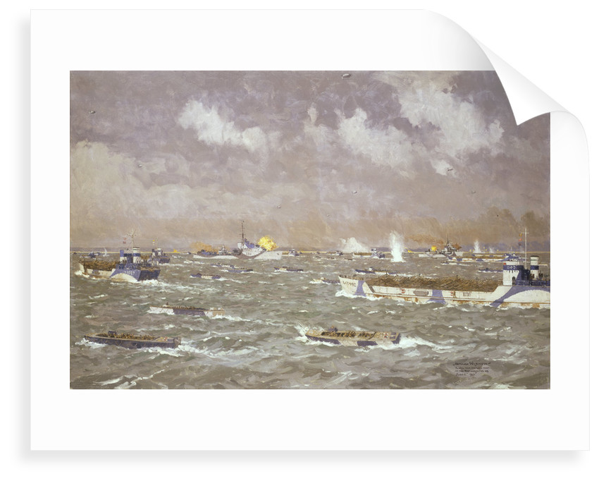 D-Day: landing craft going in to the beaches, 6 June 1944 by Norman Wilkinson