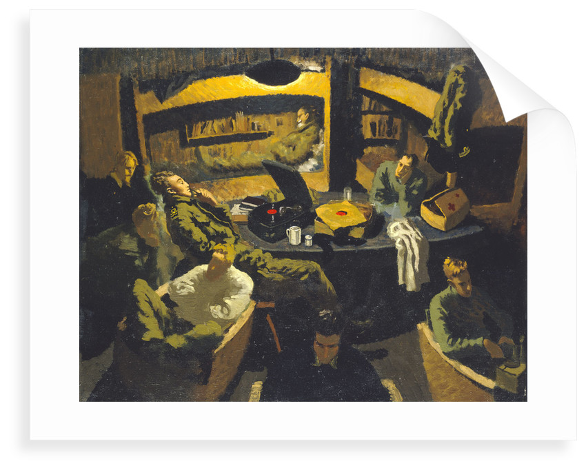 Naval officers room at Marlag 'O' prisoner-of-war camp by John Worsley