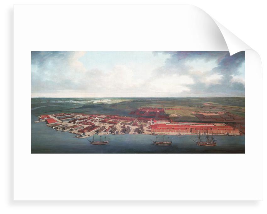 Chatham Dockyard by Joseph Farington