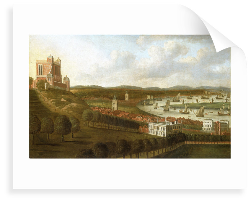 View from One Tree Hill: The Queen's House and the Royal Observatory, Greenwich by Jan Griffier the Elder
