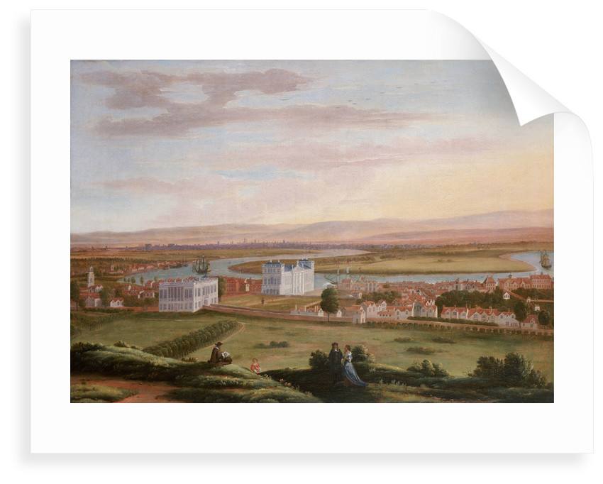 A view of Greenwich and the Queen's House from the South East, circa 1670 by Hendrick Danckerts