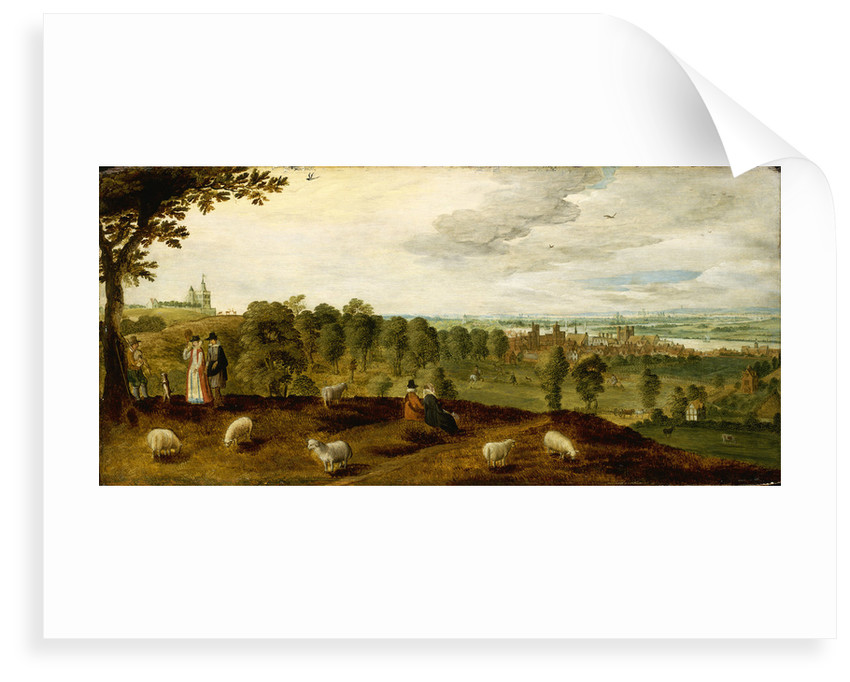 Greenwich from the park showing the Tudor palace, circa 1620 by unknown