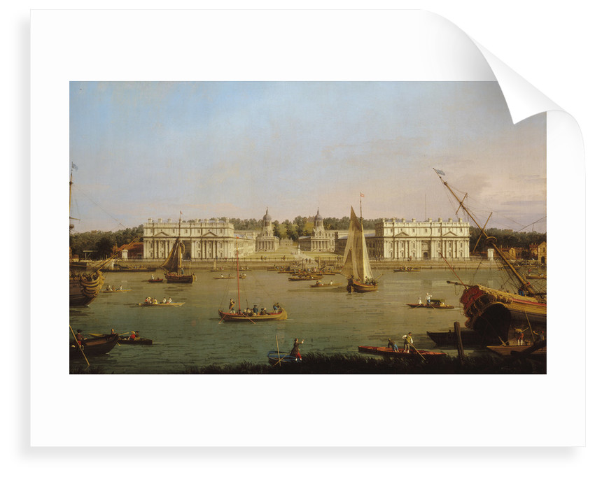 Greenwich Hospital from the north bank of the Thames by Giovanni Antonio Canaletto