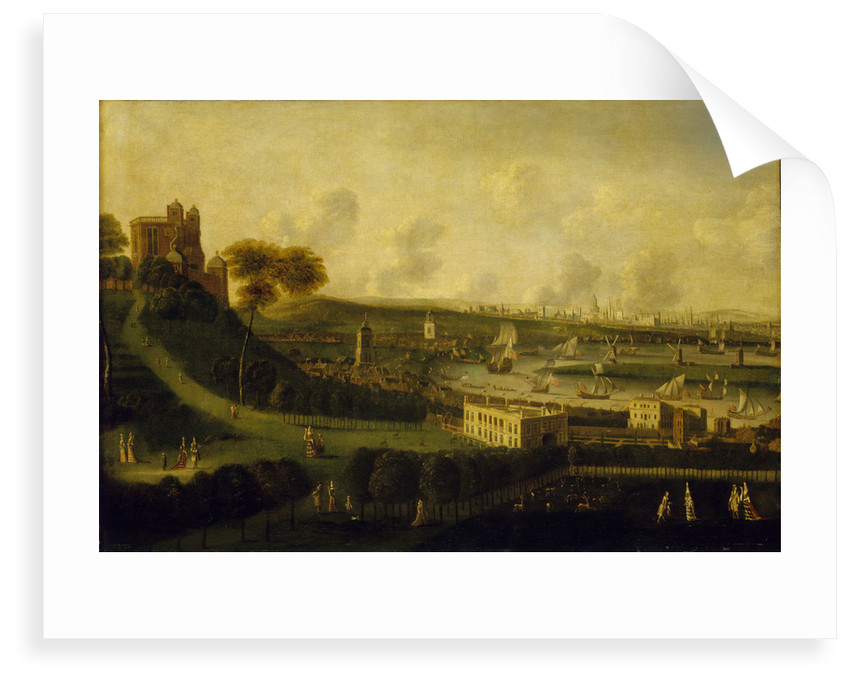 London and the River Thames from One Tree Hill, Greenwich Park by Jan Griffier