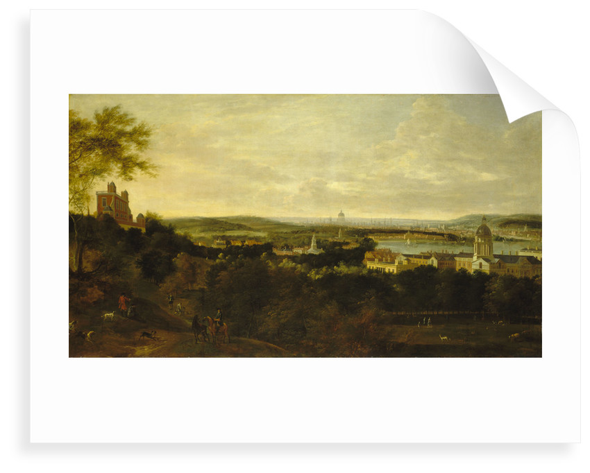 View of Greenwich and the river Thames from Greenwich Park by British School
