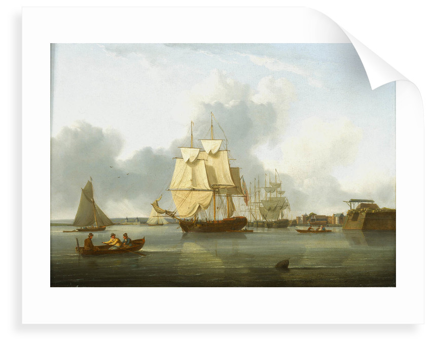 Shipping on the Thames off Deptford by William Anderson