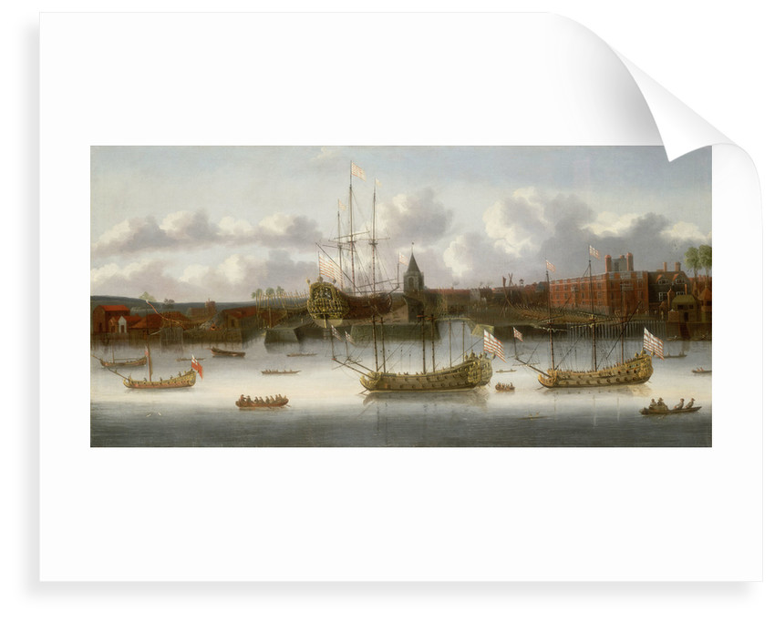East India Company's yard at Deptford, circa 1660 by unknown