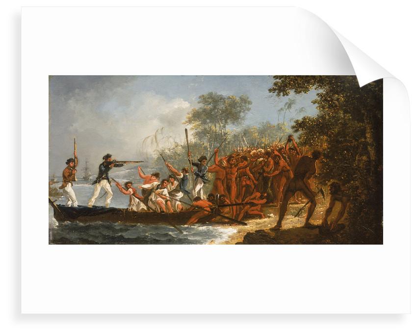 Landing at Erramanga (Eromanga), one of the New Hebrides by William Hodges