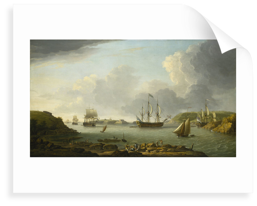 Return of a fleet into Plymouth harbour by Dominic Serres the Elder