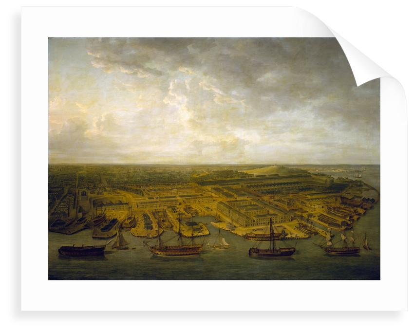 Plymouth Dockyard by Nicholas Pocock