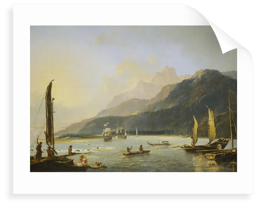 A view of Maitavie Bay, on the island of Otaheite (Tahiti) by William Hodges