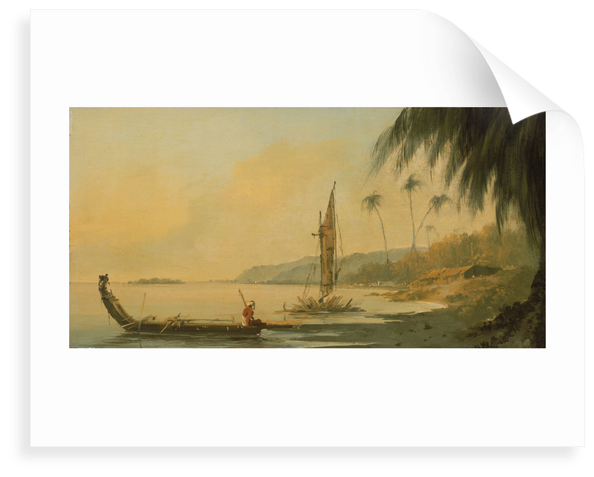 View from Point Venus, Island of Otaheite (Tahiti) by William Hodges
