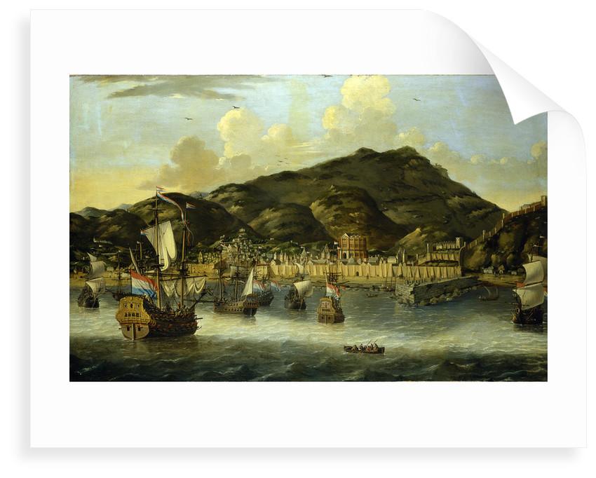 Dutch ships off Tripoli by Reinier Nooms