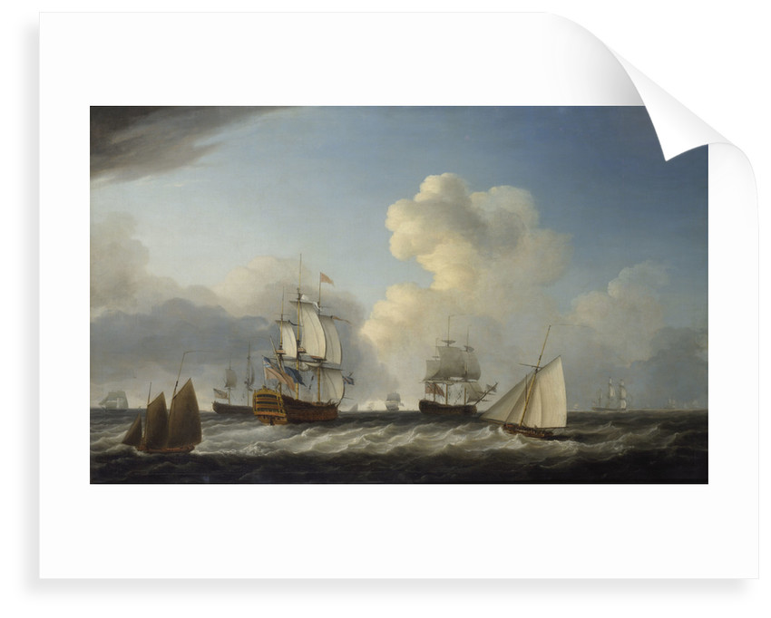 The 'St George' with other vessels by Dominic Serres the Elder