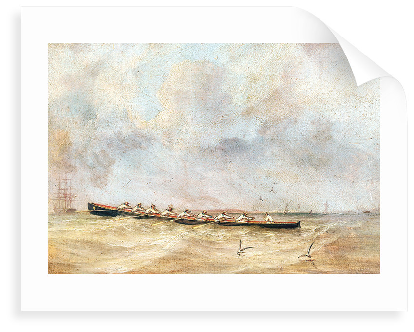 HMS 'Pique's' gig by John Christian Schetky