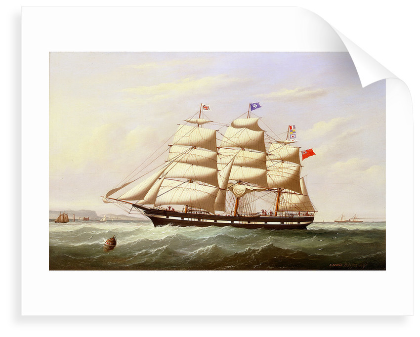 The barque 'William Yeo' by Joseph Semple