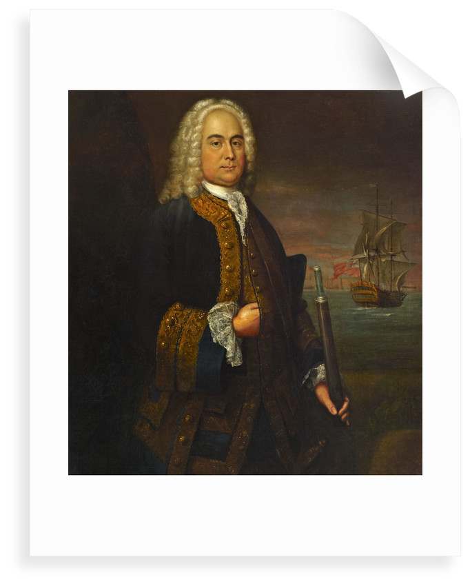 Commodore Curtis Barnett (1696-1746) by John Ellys