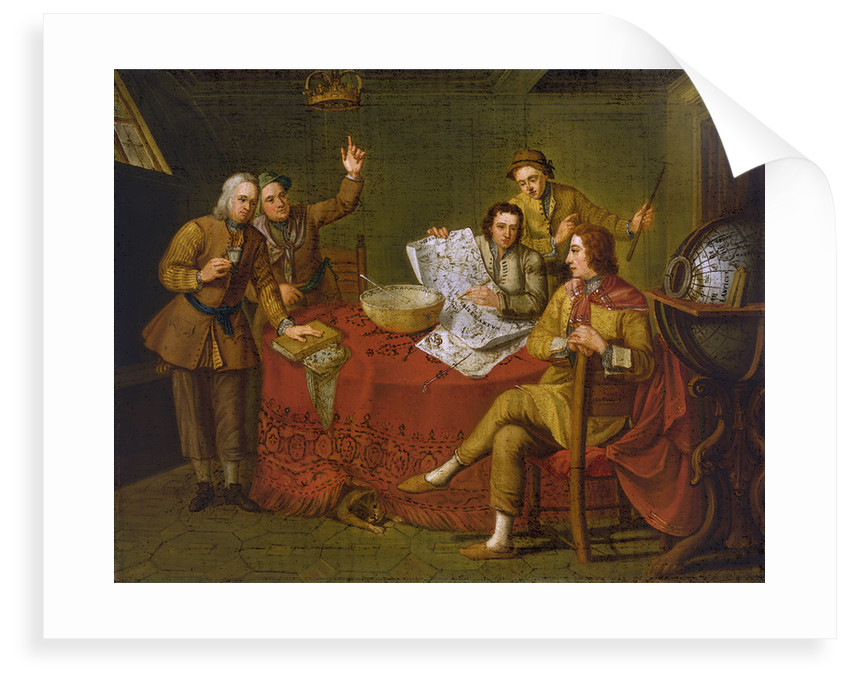 Gustavus Hamilton, 2nd Viscount Boyne (1639-1723), in the cabin of his yacht by Bartolommeo Nazari