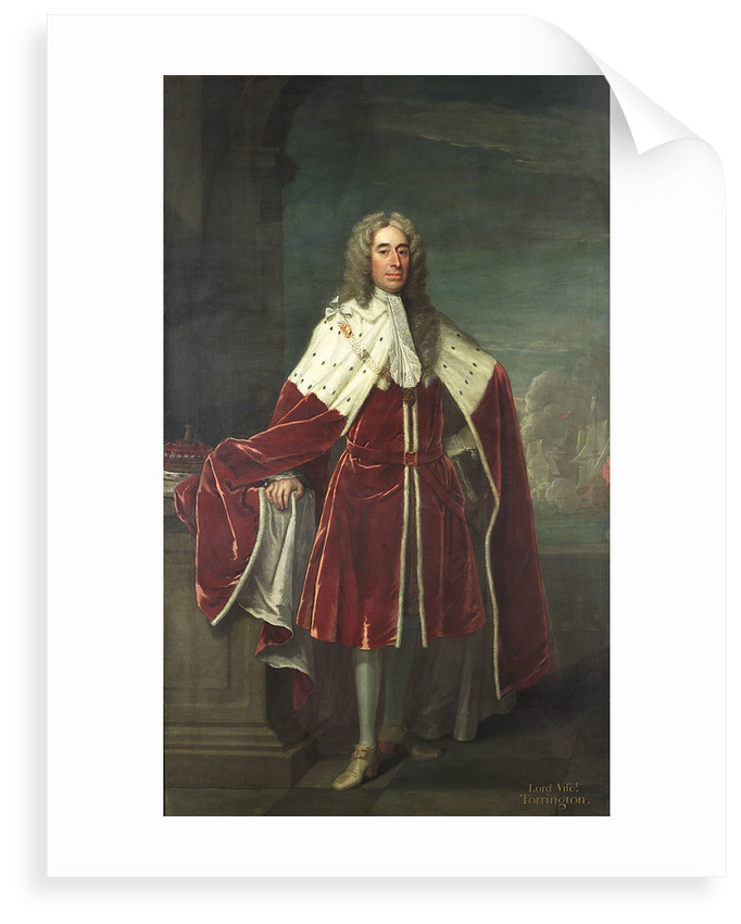 Admiral of the Fleet George Byng, 1st Viscount Torrington (1663-1733) by Jeremiah Davison
