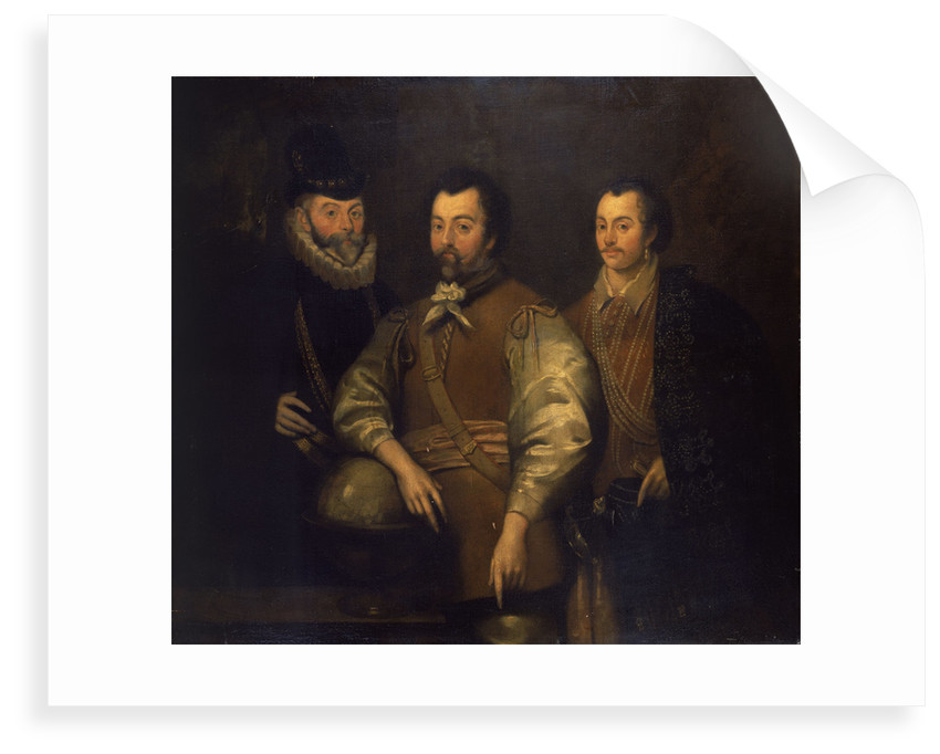 Thomas Cavendish, Sir Francis Drake and Sir John Hawkins by unknown