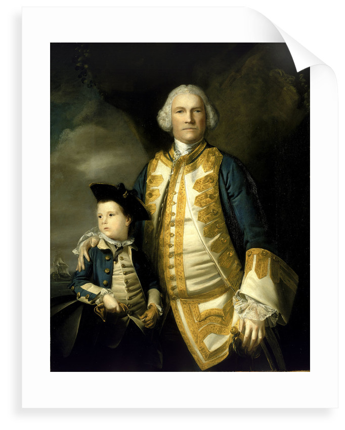 Admiral Francis Holburne (1704-1771) and his son, Sir Francis, 4th Baronet (1752-1820) by Joshua Reynolds