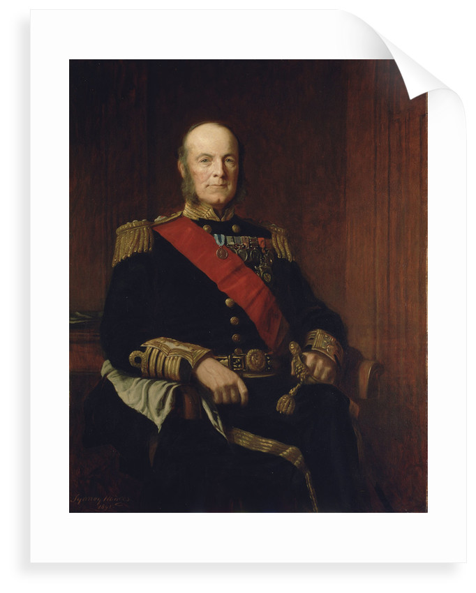 Admiral Arthur Hood, Baron Hood of Avalon (1824-1901) by J. Sydney Willis Hodges