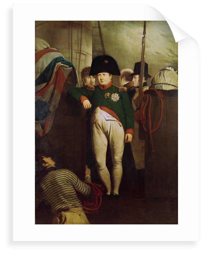 Napoleon Bonaparte on board the 'Bellerophon' in Plymouth Sound by Charles Lock Eastlake